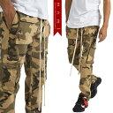 (ミニマル) mnml SNAP CARGO PANTS DESERT CAMO (LS:PANTS)(COLOR:D.CA) ボトムス ロングパンツ ジーンズ ストレッチ スナップ カーゴ デザートカモ 国内正規品