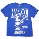 (ハードコアチョコレート) HARDCORE CHOCOLATE ソニック・ザ・ヘッジホッグTシャツ (音速ロイヤルブルー)(SS:TEE)(T-1093-BL) Tシャツ ..