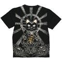ショッピング猫 (クロップドヘッズ) CROPPED HEADS 招き猫柄TEE (SS_TEE)(1211-17BK) Tシャツ 半袖 カットソー 国内正規品