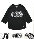 (ルーディーズ) RUDIE'S SPARK 3-4 RAGLAN (3-4:TEE)(83392-BK) ロンT 長袖 Tシャツ 半袖 7分袖 カットソー 国内正規品