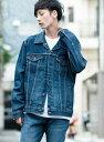 リーバイス LEVI'S トラッカージャケット-ミッドカラー/14.8oz デニム/メンズ(LEVIS 公式 ジーンズ ジャケット スキニー シャツ Tシャツ)...