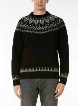 Levi's Wool Fair Isle Crew Sweater 27546: 0000 Black