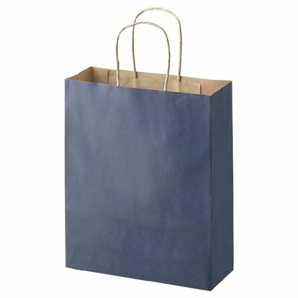 手提げ紙袋(青M)【単品購入不可】ギフト用手提げ袋