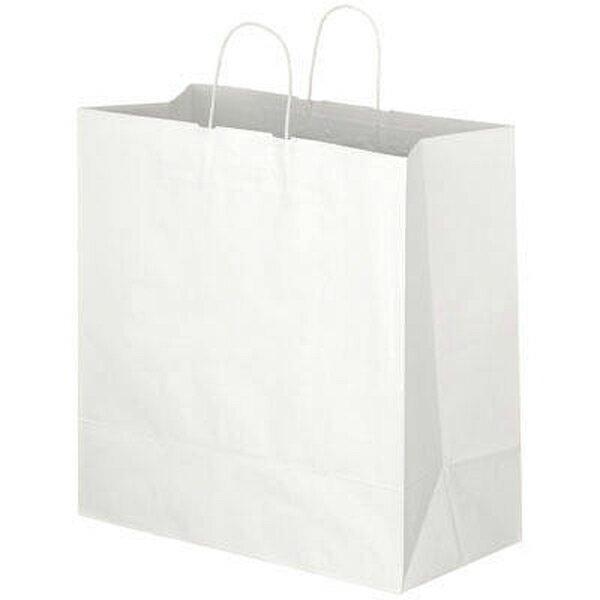 手提げ紙袋(白L)マチ広タイプ 【単品購入不可】ギフト用手提げ袋
