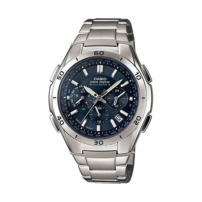 CASIO wave ceptor カシオ ウェーブセプター 腕時計 [ 電波 ソーラー リストウォッチ メンズ レディース 防水 ] [ 国内正規品 ] WVQ-M410DE-2A2JF クロノグラフソーラー電波時計