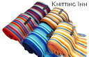 【KNITTING INN (ニッティング イン)】 マルチカラー ストライプ アートマフラー Tomoji Matsui Shima Scarf