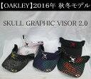 オークリー ゴルフ スカル バイザー【OAKLEY】SKULL GRAPHIC VISOR 2.0カ