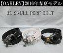 オークリー ゴルフ スカル ベルト【OAKLEY】3D SKULL PERF BELT カラー:JET BLACK(01K)カラー:WHITE SILVER(124)カラー:BLACK GOLD(..
