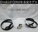 オークリー ゴルフ ベルト【OAKLEY】GEO EMB BELTカラー:JET BLACK(01K)カラー:WHITE(100)カラー:NAVY BLUE(6...