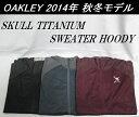 【OAKLEY】オークリー ゴルフ ウェア スカル アウターSKULL TITANIUM SWEATER HOODYカラー:JET BLACK(01K)カラー:SHADOW(20G)カラー..