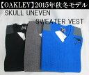 オークリー ゴルフ ウェア スカル ベスト【OAKLEY】SKULL UNEVEN SWEATER VESTカラー:JET BLACK(01K)カラー:DARK...
