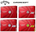 キャロウェイ ゴルフ ボール【Callaway】CHROME SOFT BALLクロムソフト ボールカラー:ホワイト(WT)カラー:ホワイト/レッド(WT/RED)[TRUVIS]カラー:ホワイト(WT)[TRIPLE TRACK]カラー:イエロー(YE)[TRIPLE TRACK]ナンバー:1,2,3,4