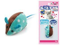 ねこモテ水玉マウスターキー〔ネズミ/ねずみ/猫おもちゃ/またたび〕4975023658131猫用品/