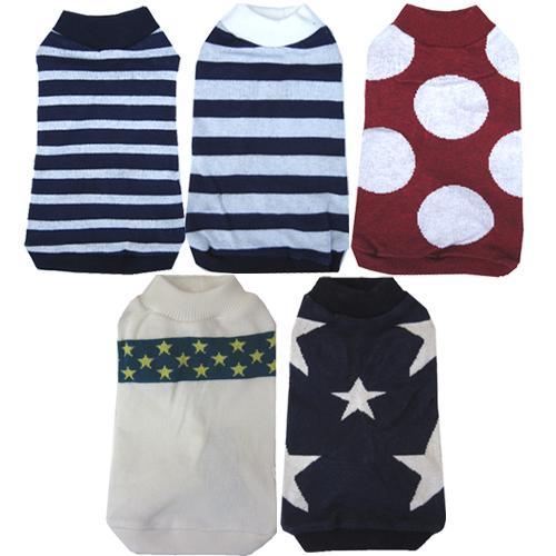 ドッグセーター肌触りのよいハイゲージ(目の細かい薄手)タイプのセーターです犬用セーターメール便送料:
