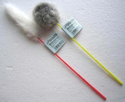 じゃれ猫フワフワ&ポンポン1本(猫用おもちゃ)キャティーマンドギーマンハヤシ497655584264