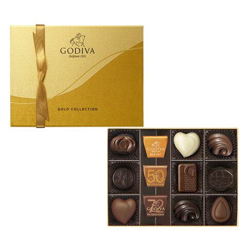 GODIVA-ゴディバ-ゴールドコレクション12粒入(179940)出産内祝・内祝い・お返し・プレゼント・ご挨拶・ギフト・結婚内祝・快気祝・新築内祝・御祝・御礼