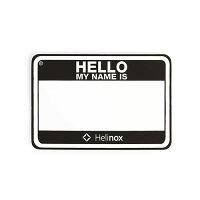 ヘリノックス Helinox Hello my name is パッチ / ブラック品番:19759017の画像