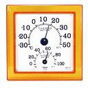 CRECER 温湿度計クリア・ミニオレンジ  CR‐12O