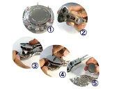 防水時計用裏蓋開け器 3点支持オープナー(スクリューバックオープナー)【三点支持】防水腕時計用裏ぶたはずし 固定台セット