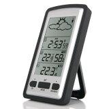 デジタル温度計 ワイヤレス 室内・室外 LCD デジタル天気湿度/温度センサー 100Mクロック イン / アウトドア