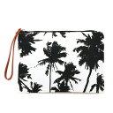 [SEVEN ISLAND] 【CB-010HI】クラッチバッグ/ Black and White Palms ヤシの木(モノクロ)【アロハ】【ハワイ】【ALOHA】【HAWAII】【セブンアイランド】
