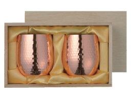 *【送料無料(一部地域除く)!!】ASAHI[アサヒ] 食楽工房 ロックカップ 340ml 2pcセット(木箱入) CNE971 (銅製品・調理器具・ギフト・お祝い・贈り物・贈答品)