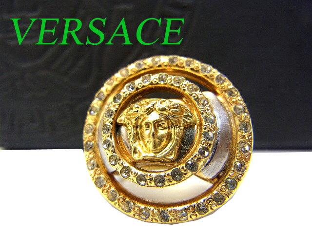 ヴェルサーチ ラインストーン リング メデューサ 指輪 0477【】VERSACE