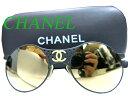 太陽眼鏡 - 美品 シャネルCHANELサングラス ミラー 丸型 ココマーク 黒0258【中古】ヴィンテージ ブラック メガネ