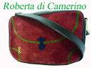 Dロベルタ ディ カメリーノ ベロア ショルダー バッグ 鞄0203【中古】Roberta di Camerino
