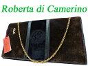 美品 ロベルタ ディ カメリーノ ベロア チェーン バッグ 鞄0398【中古】Roberta di camerino ヴィンテージ