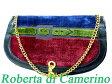 ロベルタ ディ カメリーノ ベロア チェーン バッグ 鞄 0054【中古】Roberta di Camerino