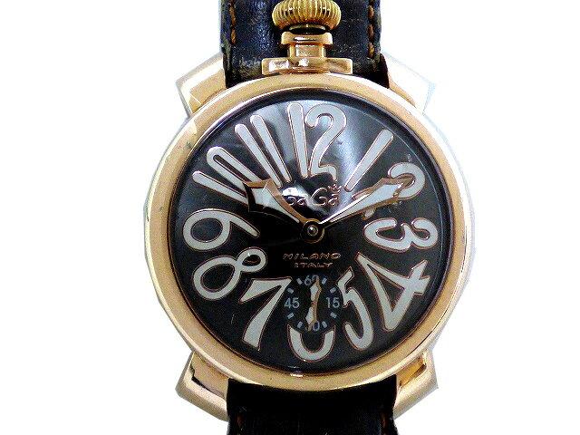 ガガミラノ マヌアーレ48 腕時計 手巻 メンズ 5011.07S 0330【】GaGa MILANO