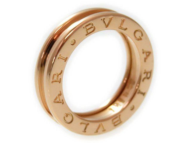 新同 磨き済 ブルガリ ビーゼロワンK18PG 750リングXS48指輪0015【】BVLGARI 指輪 ピンクゴールド