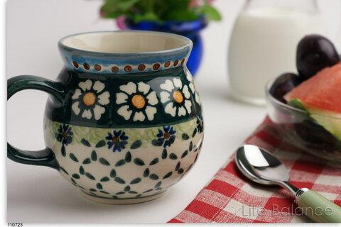 ポーリッシュポタリー ポーランド陶器・食器 Ceramika Artystyczna WIZA社マグカップ 小 (W101-25A)