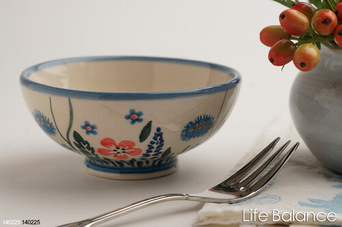 ポーリッシュポタリー ポーランド陶器・食器 Ceramika Artystyczna WIZA社ご飯茶碗 小 (W128-127)