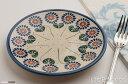ポーリッシュポタリー ポーランド陶器・食器 Ceramika Artystyczna WIZA社プレート 平皿 φ17cm (W200-132)