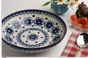 ドイツ カンネギーサ陶器スーププレートL (ブルーフラワー) PT003L11
