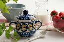ドイツ ブンツラウワー陶器ハイゼ陶器 シュガーポット(ピーコックイエロー) h016 スプーン付属無し
