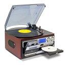 レコードプレーヤー スピーカー内蔵 cdプレーヤー cdプレイヤー カセット カセットテープ cd ダビング プレーヤー デジタル化 カセットデッキ ラジオ AM FM SDカード USBメモリ デジタル録音