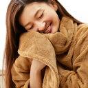 【楽天スーパーSALE協賛品】ふわふわボリュームたっぷり軽くて暖かいスーパーソフトマイクロファイバーガウン