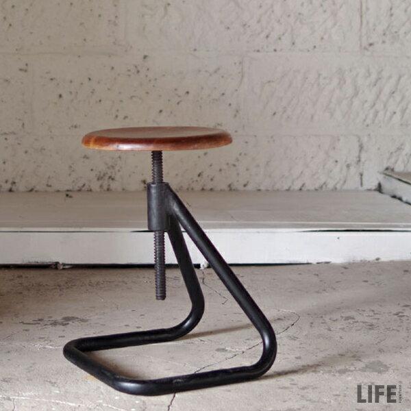 スツール 昇降 椅子 アイアンスツール インダストリアル