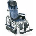 リクライニング 車椅子 スチール製フルリクライニング自走用車椅子 RR42-NB  カワムラサイクル (車椅子 車いす 車イス 折りたたみ)