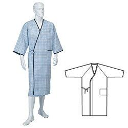 紳士カラーガーゼ合わせ(ラグラン)NE31 神戸生絲 メンズ 介護 寝間着 寝巻き 浴衣 入院 パジャマ 老人 パジャマ 高齢者 入院パジャマ