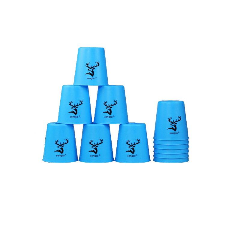 スポーツスタッキング専用カップ 12点セット スピードスタックス 競技用 知育おもちゃ FlyinCup 12個セット ブルー LP-FLCUP12S