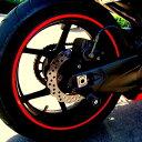 【店内全品ポイント10倍 11日1:59まで】 ホイール用ステッカーセット 16本 バイク・自動車用 17or18インチ対応 リムステッカー 反射素材 防水 タイヤ ホイールステッカー 簡単施工 バイクにお勧め LP-BIKSTK18