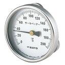 SATO 佐藤計量器 バイメタル温度計 表面温度計(サーモペッター) 400℃タイプ 2340-40