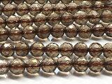 天然石 スモーキークォーツAAA 64面カット 6mm 1連売り