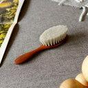 REDECKER レデッカー ベビー ヘアブラシ 山羊毛 赤ちゃん ソフト ベビー用 ヘアーブラシ くし コーム チルドレンヘアブラシ