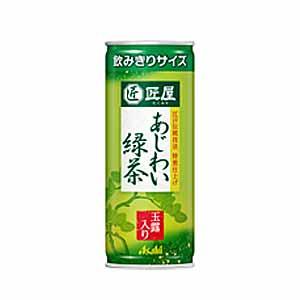 朝日工匠店茶綠茶綠茶罐 245 g x 24 瓶 (朝日軟飲料)