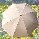 麻のやさしい風合いとポイントのリーフ柄ボビンレースがCUTE麻100%リーフ柄ボビンレース折りたたみ日傘